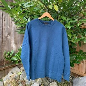 Windriver Basic Plain Blue Crewneck Sweater